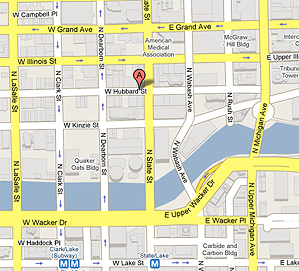 Map to Acting Studio Chicago