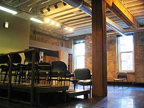 "Theatre 3, also known as ""The Purple Room"" is the largest of our 3 studio spaces."