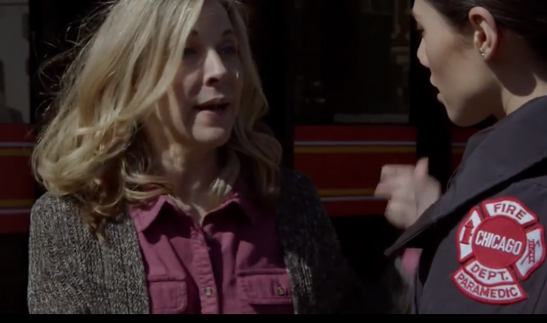 ASC Instructor, Jennie Moreau on the set of Chicago Fire during Covid
